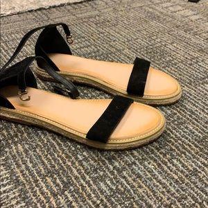 Shoes - Black Strap Sandals